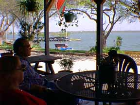 Relaxing by Lake LBJ at Sandyland